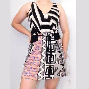 diane von furstenberg Greek Key mini dress M